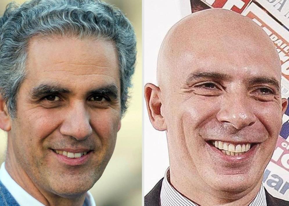 Marcello Foa (S) nuovo presidente Rai e Fabrizio Salini nuovo amministratore delegato Rai (D)