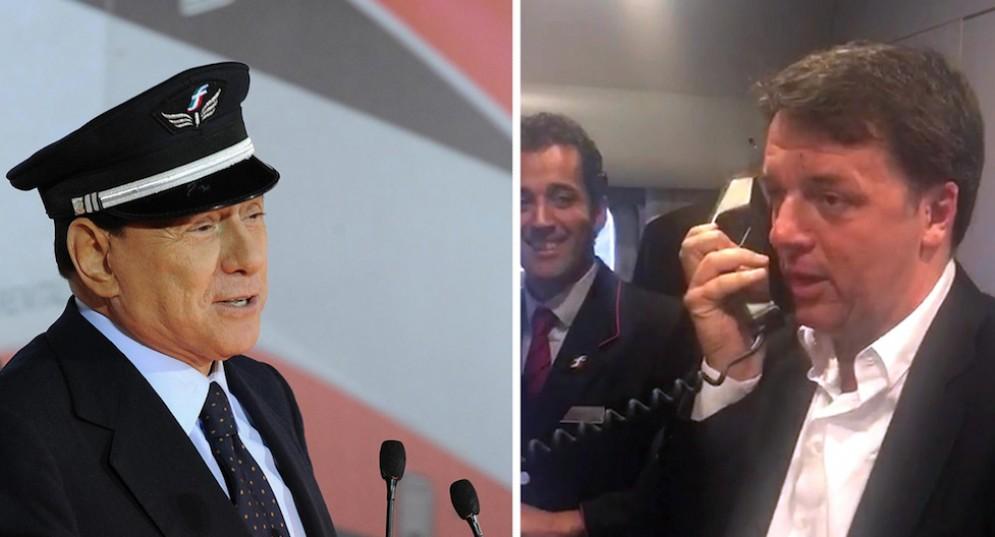 Una combo con Silvio Berlusconi e Matteo Renzi