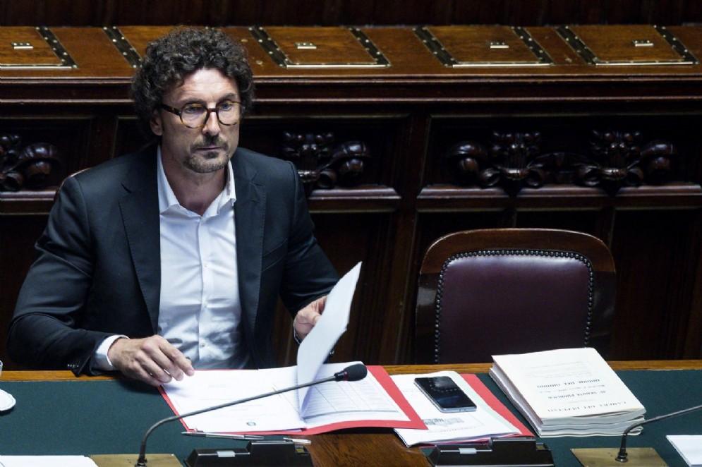 Il ministro Danilo Toninelli durante il question time alla Camera, Roma, 01 agosto 2018