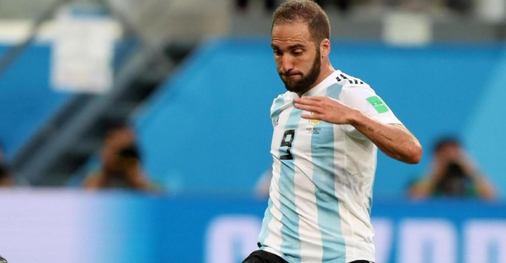 Il centravanti argentino Gonzalo Higuain