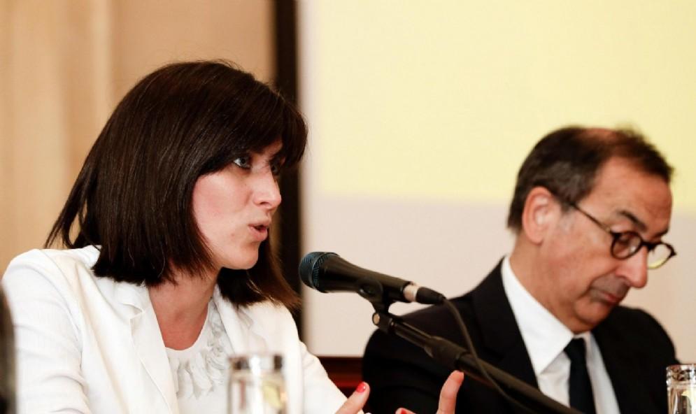 Il sindaco di Milano Giuseppe Sala e quello di Torino, Chiara Appendino
