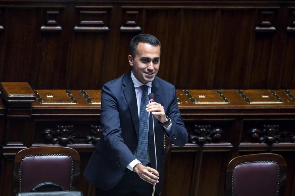 Luigi Di Maio in aula alla Camera
