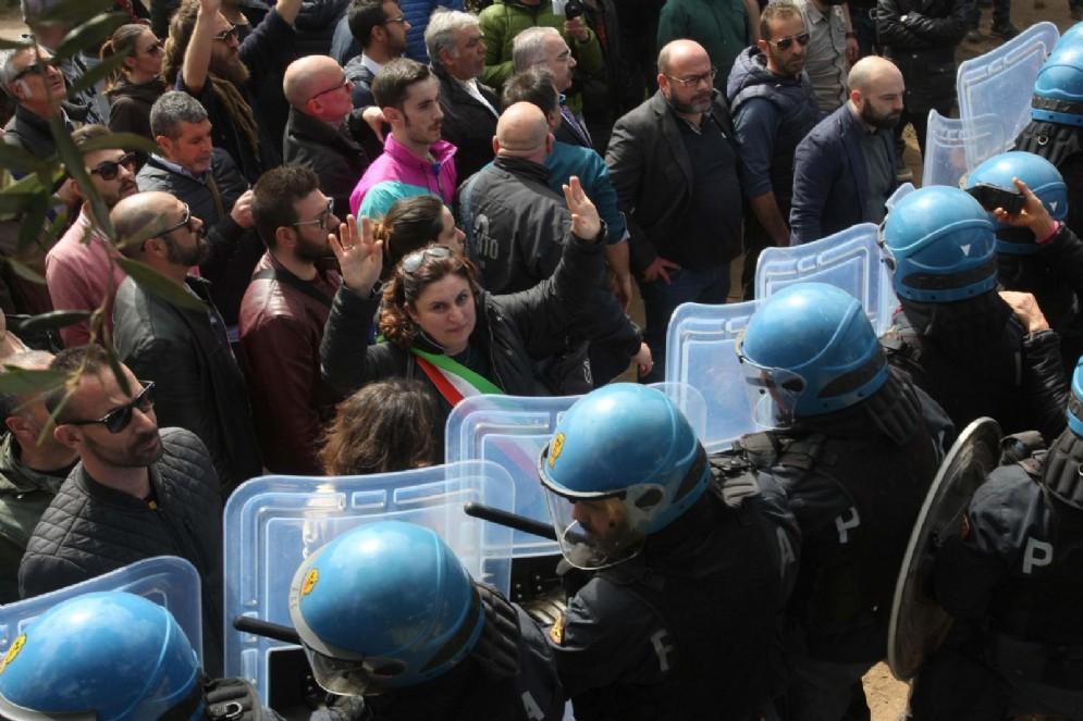 Marcia contro il gasdotto Tap a Melendugno. 28 marz0 2017