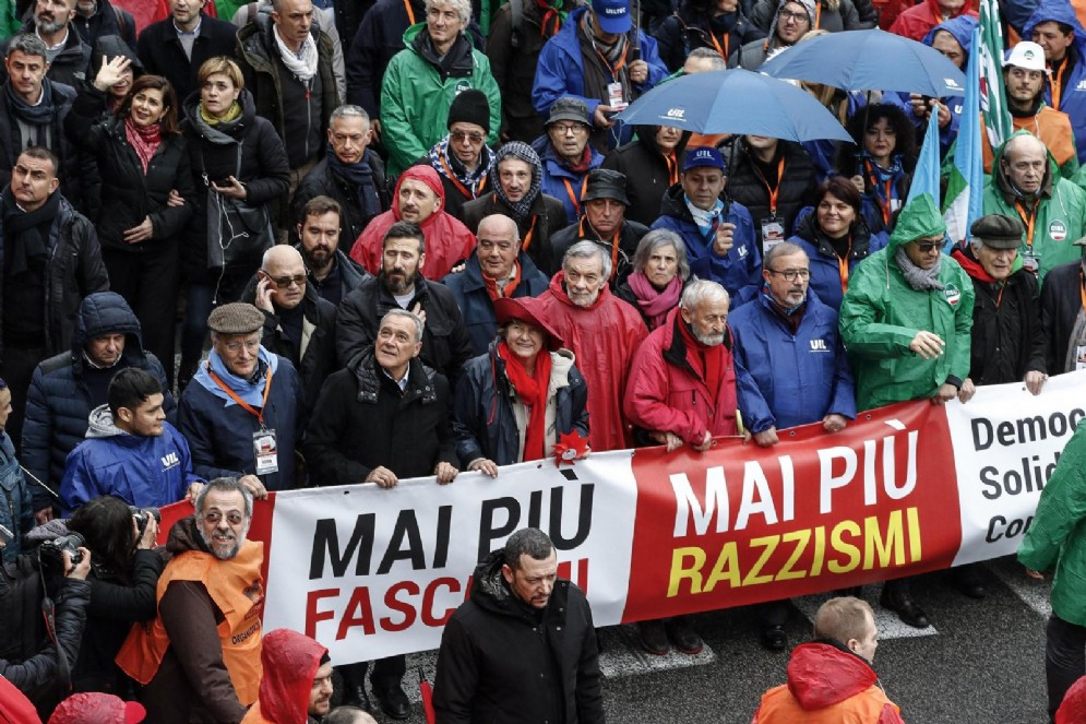 La manifestazione contro razzismo e fascismo. Roma, 24 febbraio 2018