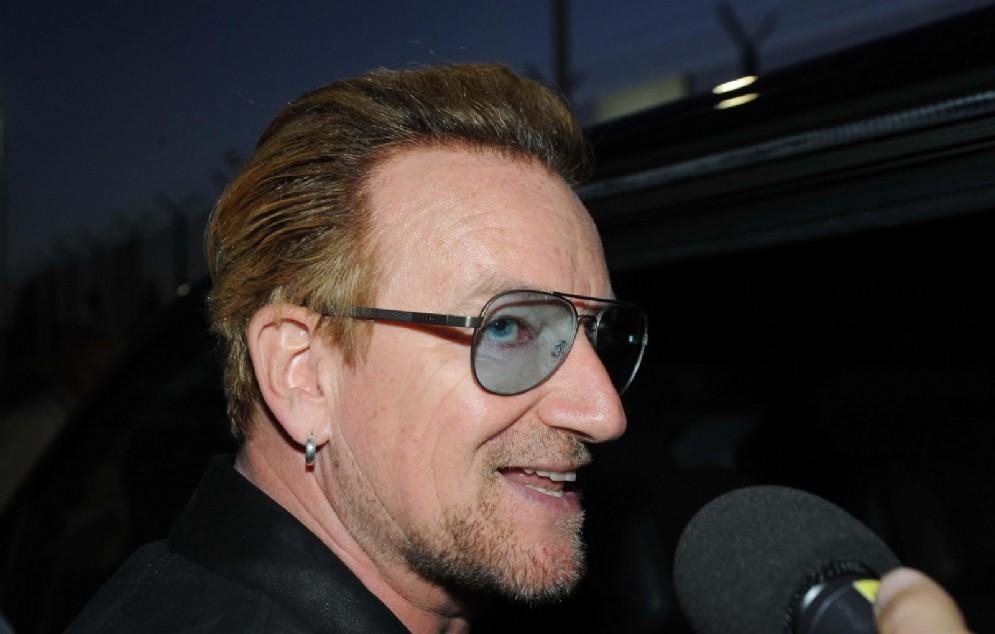 Bono Vox, il cantante della band irlandese U2