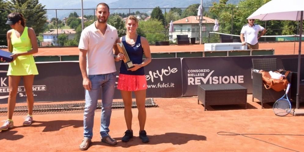 Yuri Bodo (sponsor del torneo) con Bianca Turati
