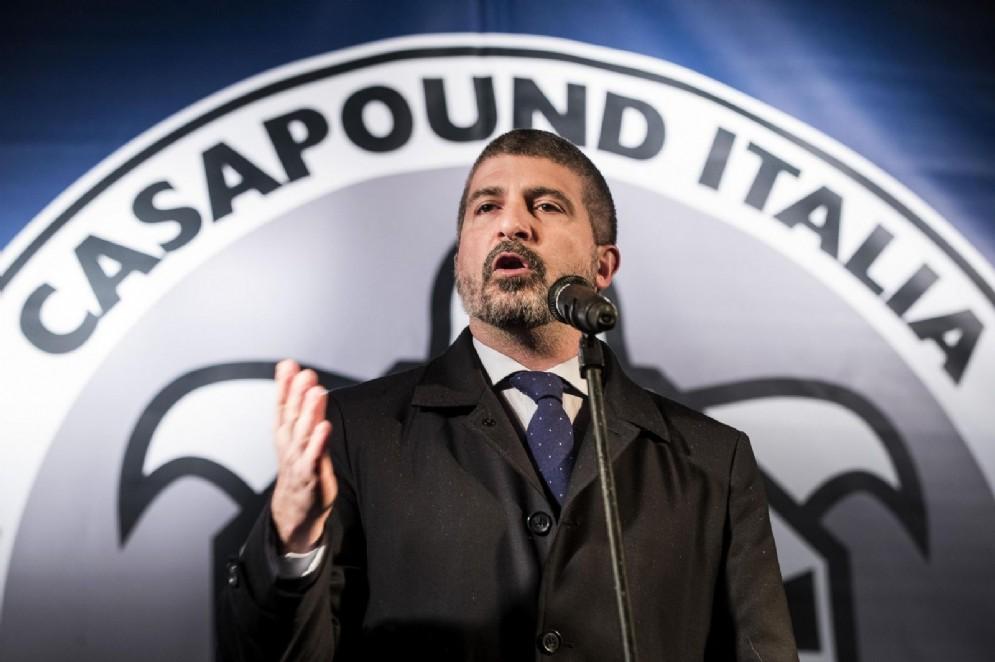 Simone Di Stefano, candidato premier di Casapound alle ultime elezioni