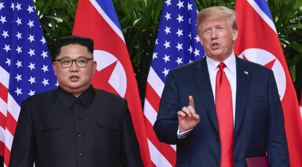 Donald Trump e Kim Jong-Un a Singapore. 21 giugno 2018