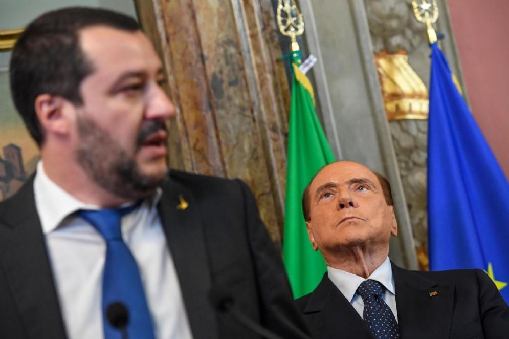 Il leader di Forza Italia, Silvio Berlusconi, e quello della Lega, Matteo Salvini