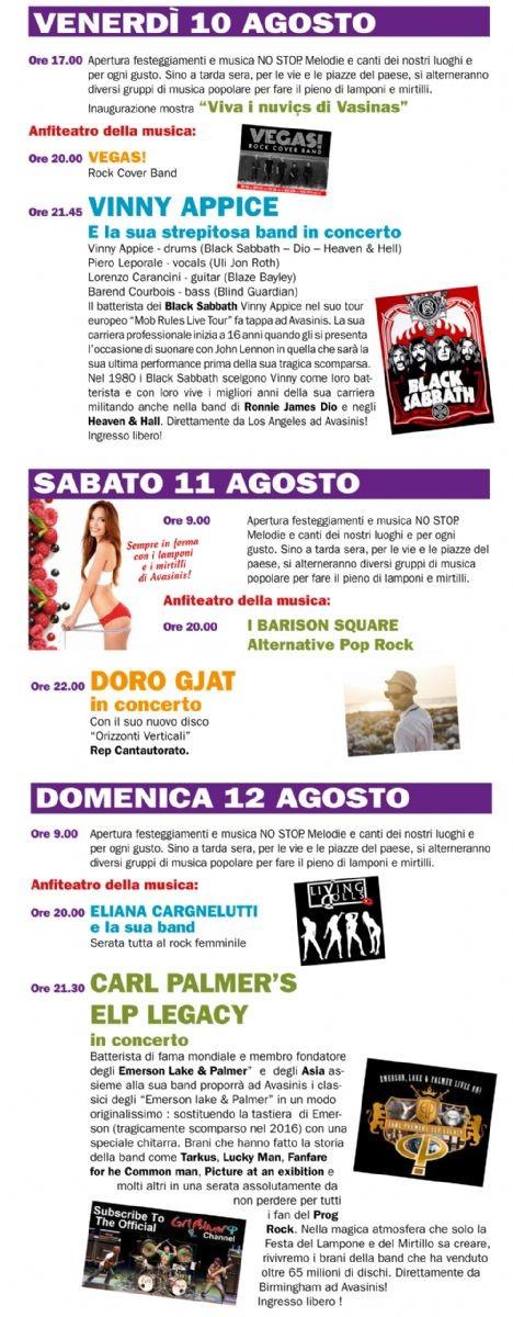 Festa del Lampone e del Mirtillo: appuntamento ad Avasinis