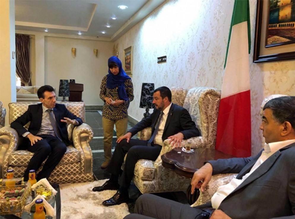 Matteo Salvini, in visita a Tripoli, 25 giugno 2018
