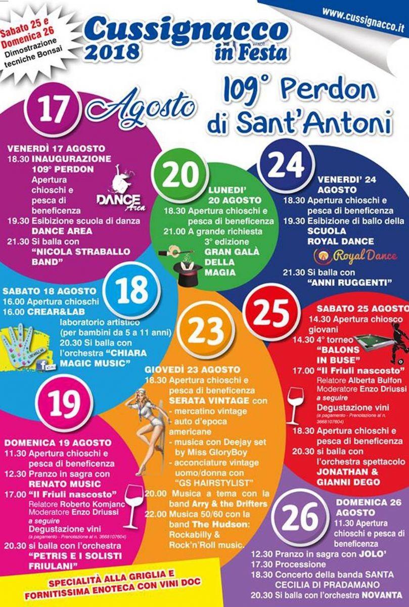Cussignacco: arriva la 109^ Sagra del Perdon di Sant Antoni