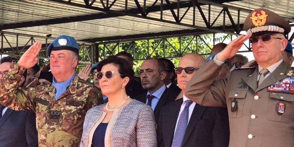 Il ministro della difesa, Elisabetta Trenta, e il capo di Stato Maggiore della Difesa, Claudio Graziano