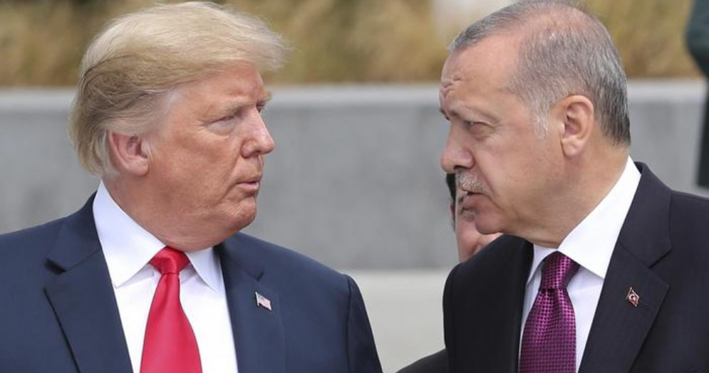 Donald Trump con il Premier turco, Erdogan