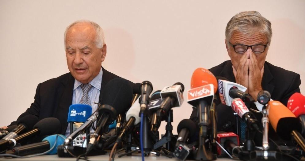 Il presidente di Autostrade per l'Italia Fabio Cerchiai e l'ad Giovanni Castellucci