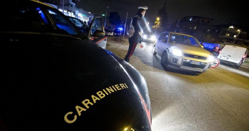 Posto di blocco dei Carabinieri - Immagini di repertorio