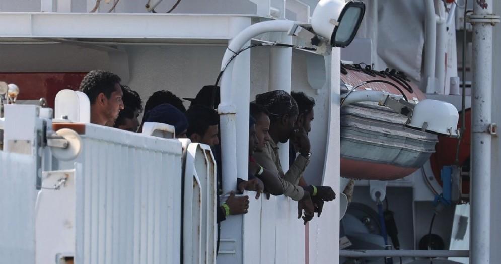 Migranti a bordo della nave Diciotti