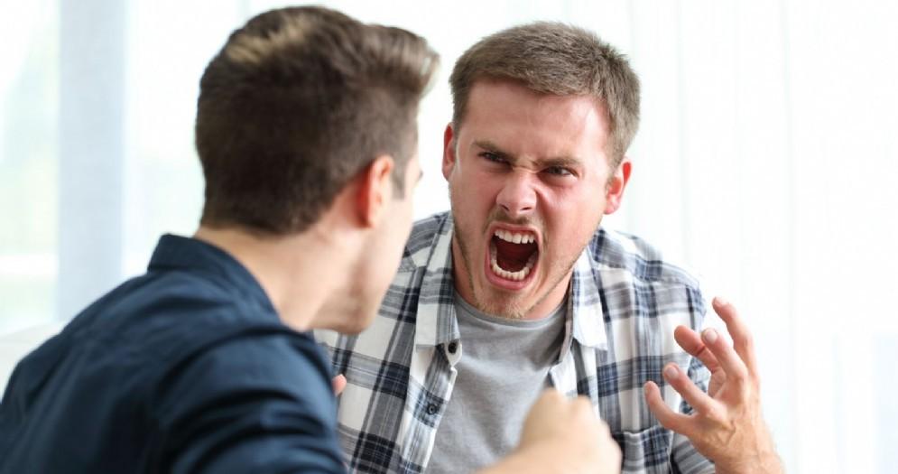 Uomini che litigano - Immagine di repertorio