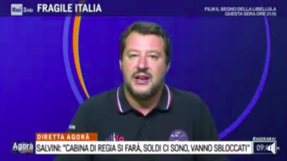 Matteo Salvini ad Agorà