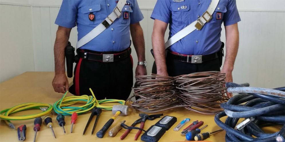 'Beccati' mentre trafugano cavi di rame: arrestati quattro 20enni