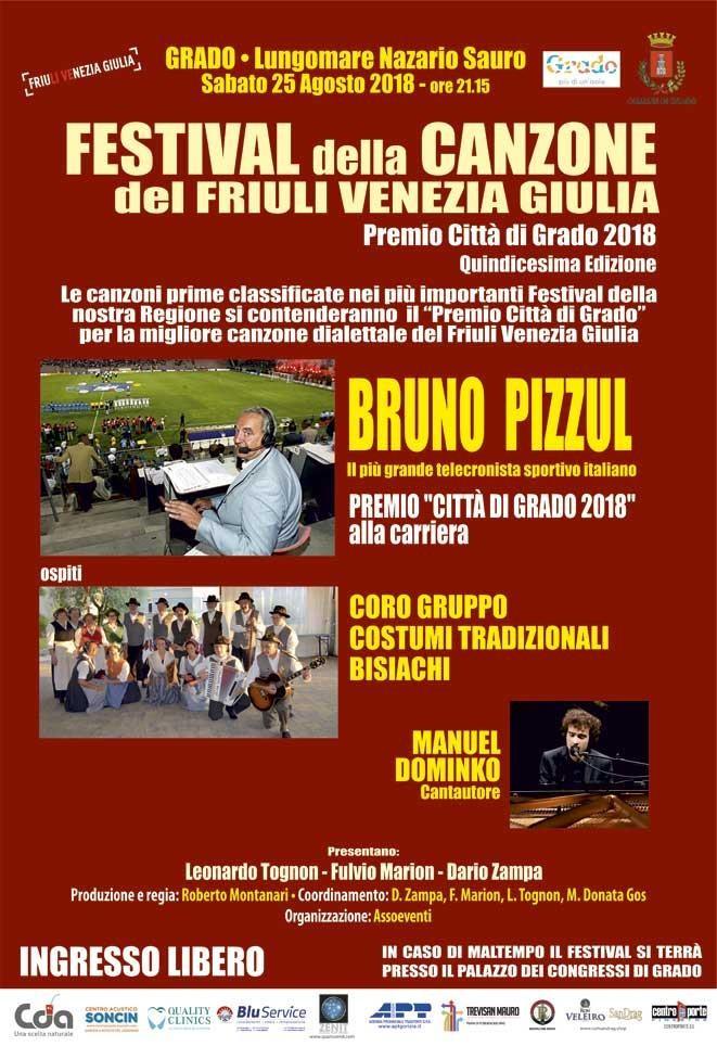 Il Programma del Festival della Canzone del Friuli Venezia Giulia 2018
