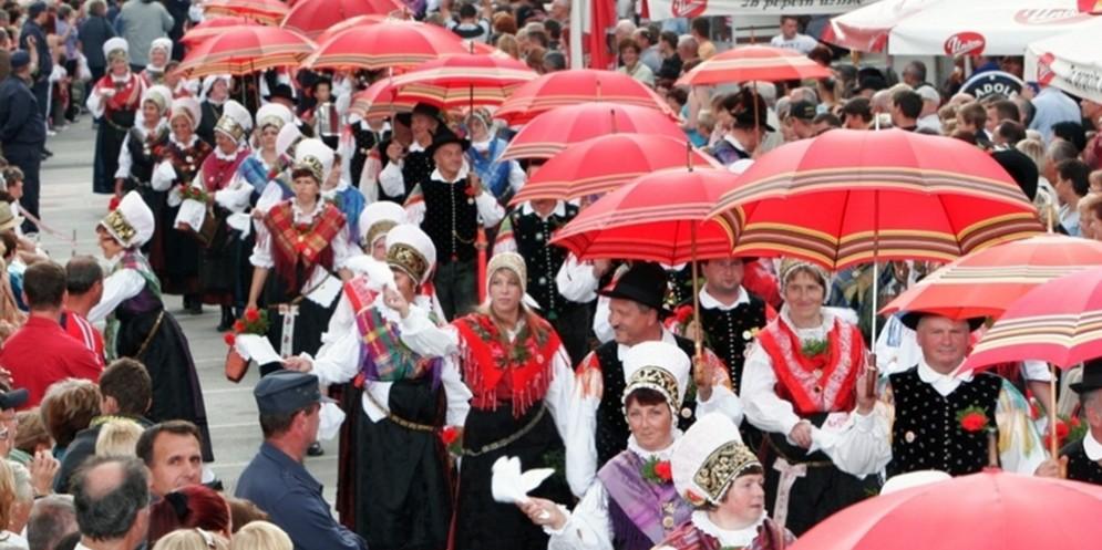 Costumi Bisiachi alla sfilata internazionale di Kamnik in Slovenia