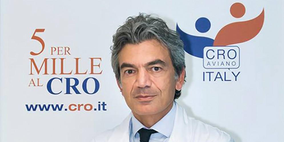 Il prof. Fabio Puglisi, direttore della S.O.C. di Oncologia Medica e Prevenzione Oncologica del CRO