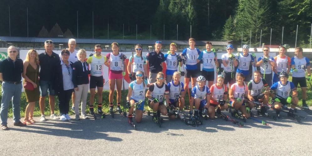 I campioni di biathlon si allenano a Forni Avoltri