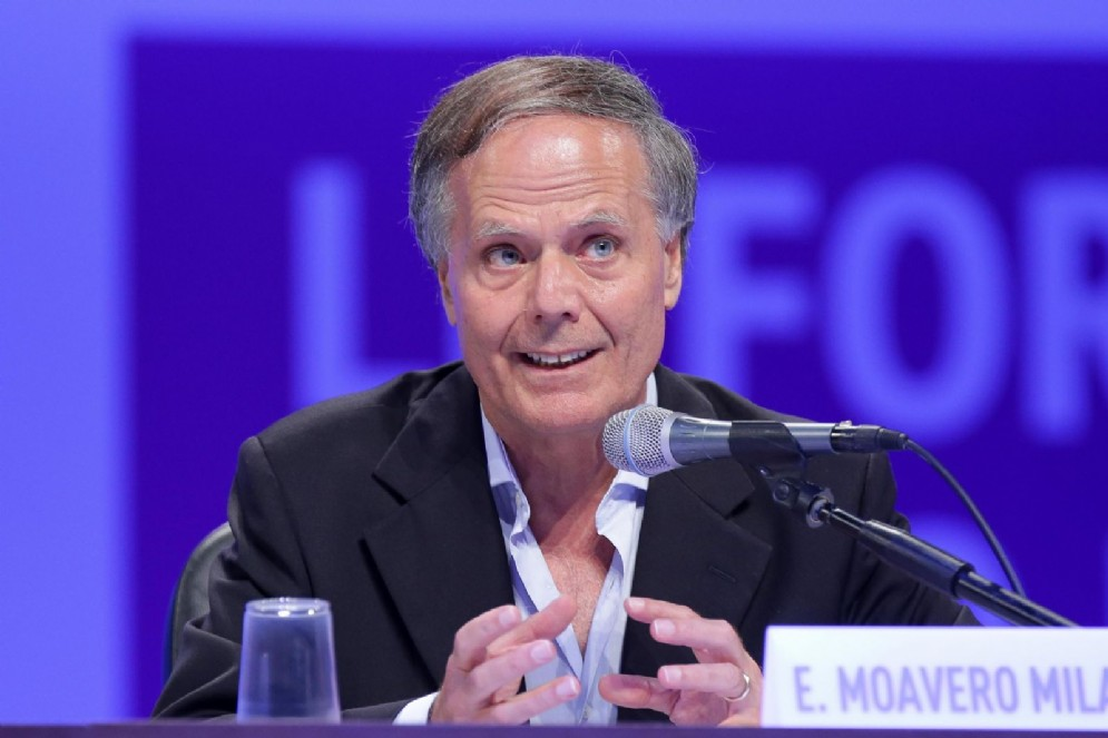 Il ministro degli Esteri Enzo Moavero durante il Meeting di Cl