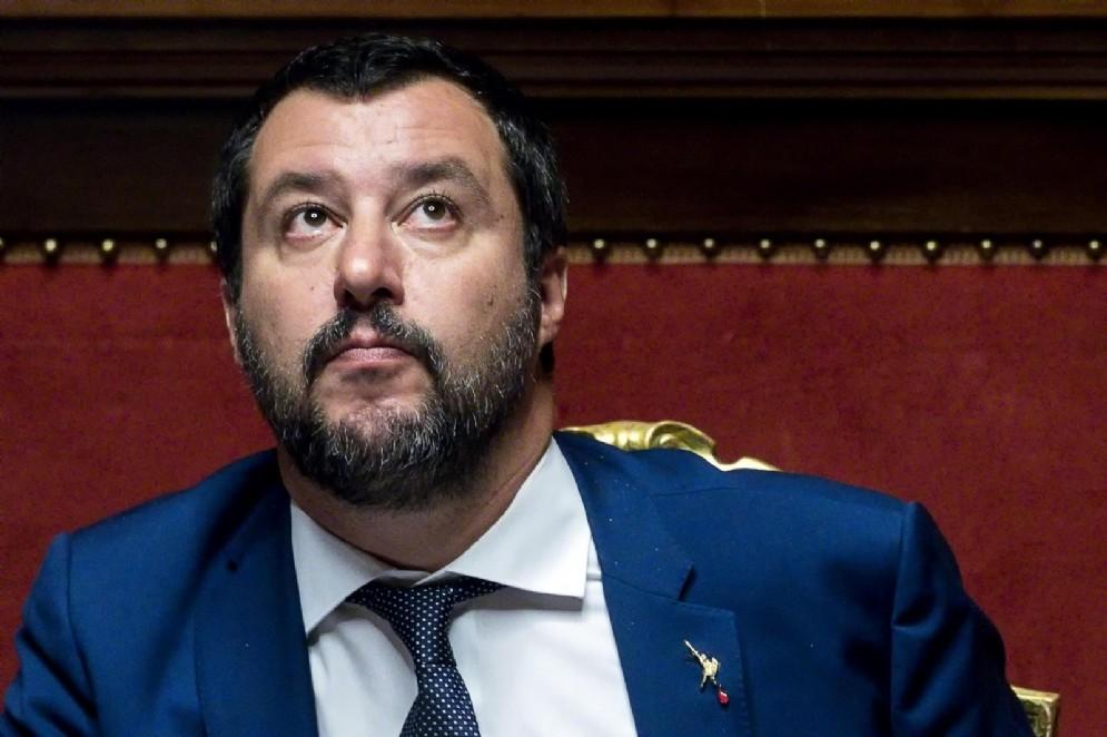 Il ministro dell'Interno Matteo Salvini, in una immagine di archivio