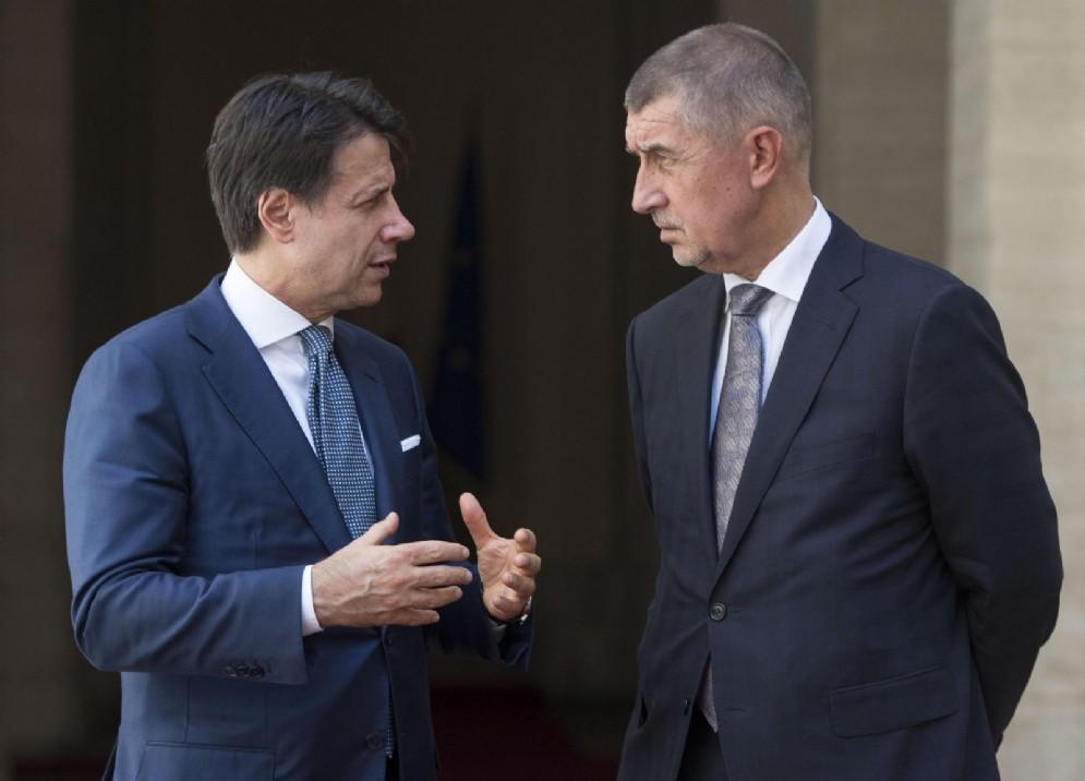 Giuseppe Conte con Andrej Babis