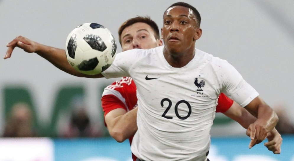L'attaccante francese Martial