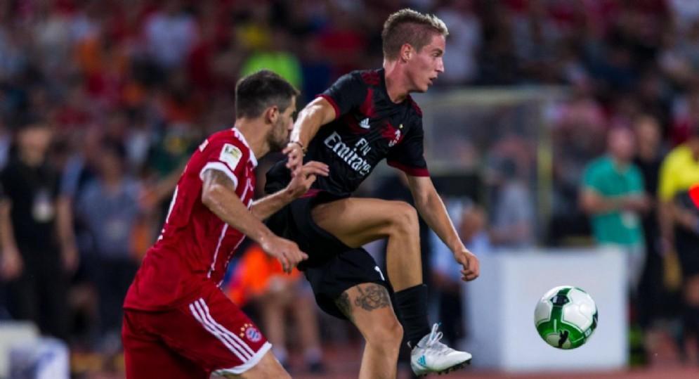 Andrea Conti, terzino del Milan e reduce da un doppio infortunio al ginocchio