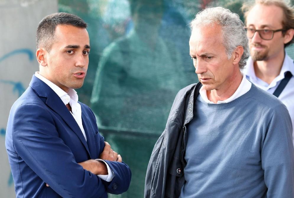 Luigi Di Maio, intervistato da Marco Travaglio, alla festa del M5s. Torino, 10 settembre 2017