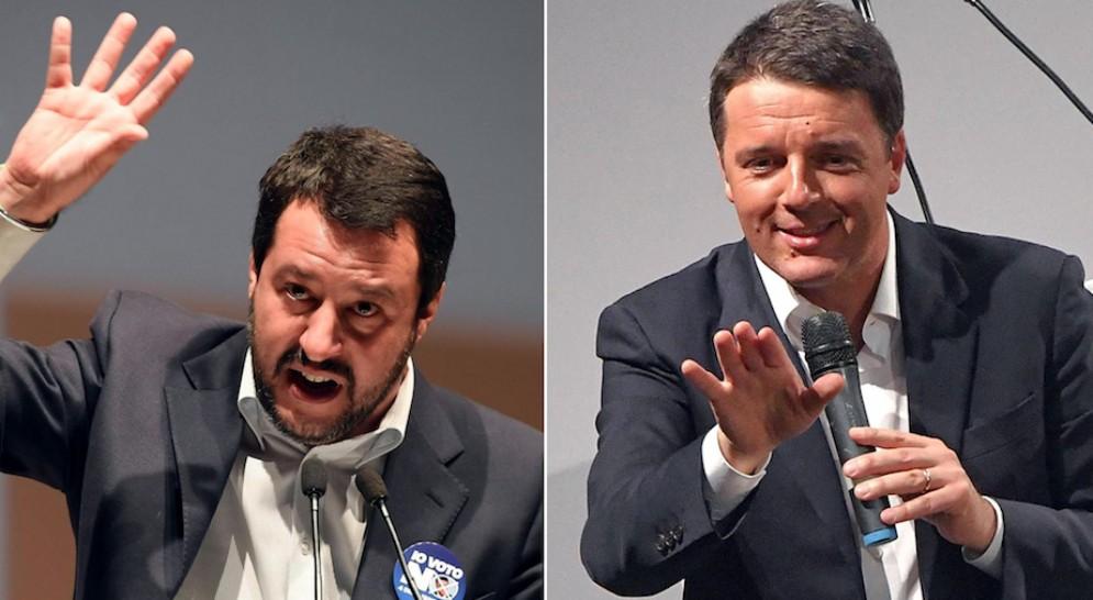 Matteo Salvini e Matteo Renzi