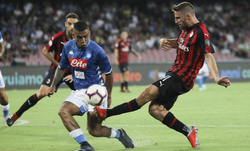 Una fase di gioco del recente Napoli-Milan