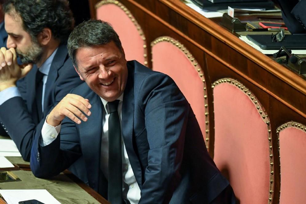 Matteo Renzi in aula del Senato