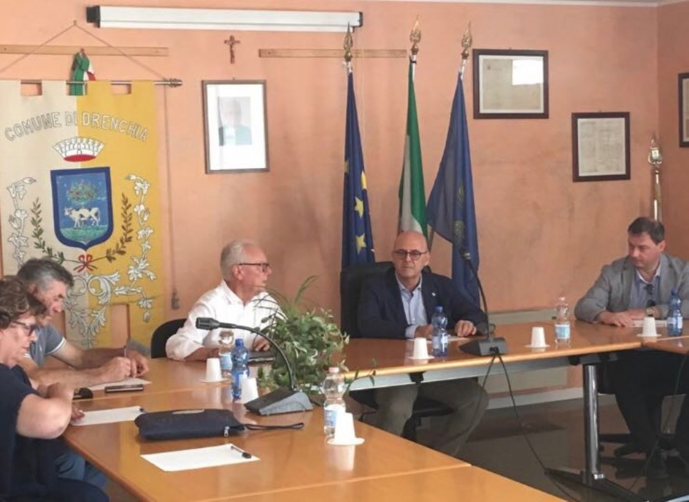 Incontro al Municipio di Drenchia tra l'assessore regionale Sebastiano Callari e i Sindaci di Drenchia, Grimacco, San Leonardo, San Pietro al Natisone e Pulfero