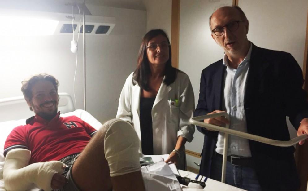 Crollo del ponte di Genova: Federico Cerne è tornato a Trieste