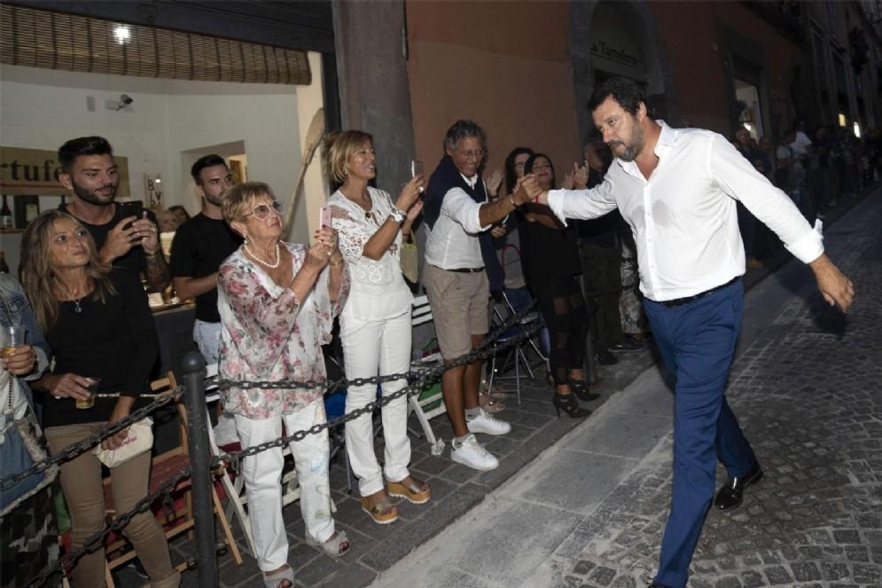 Il ministro dell Interno Matteo Salvini