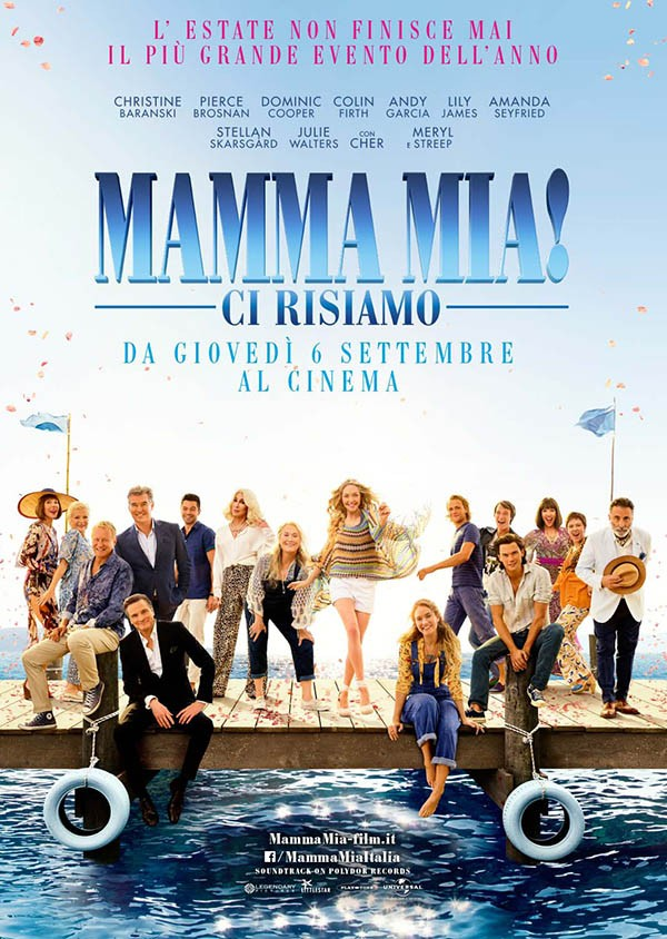 La locandina del film «Mamma Mia! Ci ririsiamo»