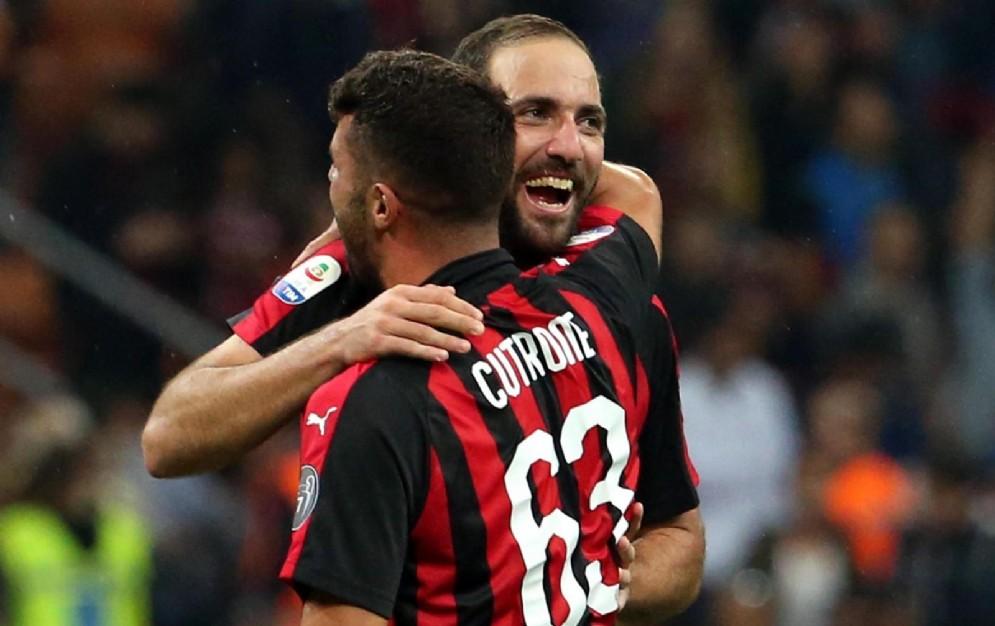 Patrick Cutrone e Gonzalo Higuain sono i due centravanti del Milan di Gattuso
