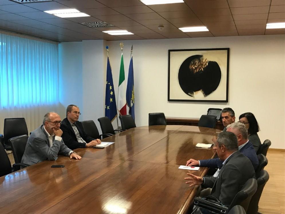 Incontro nella sede della Regione a Udine tra il vicegovernatore Riccardo Riccardi e i rappresentanti regionali degli Ordini delle professioni infermieristiche
