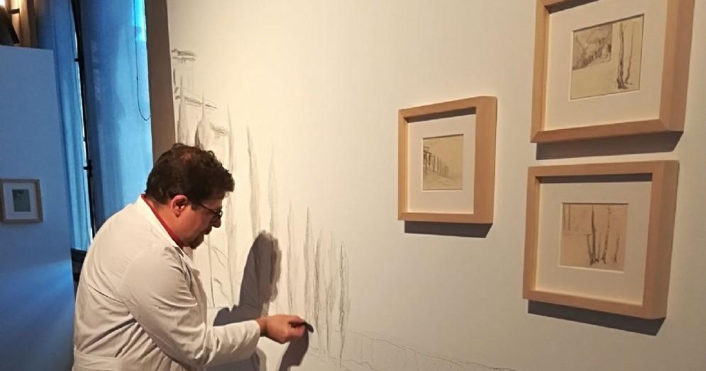 Andrea Dalla Fontana allestisce la mostra
