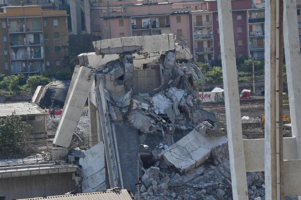 Lo stato della parte ovest di ponte Morandi a Genova