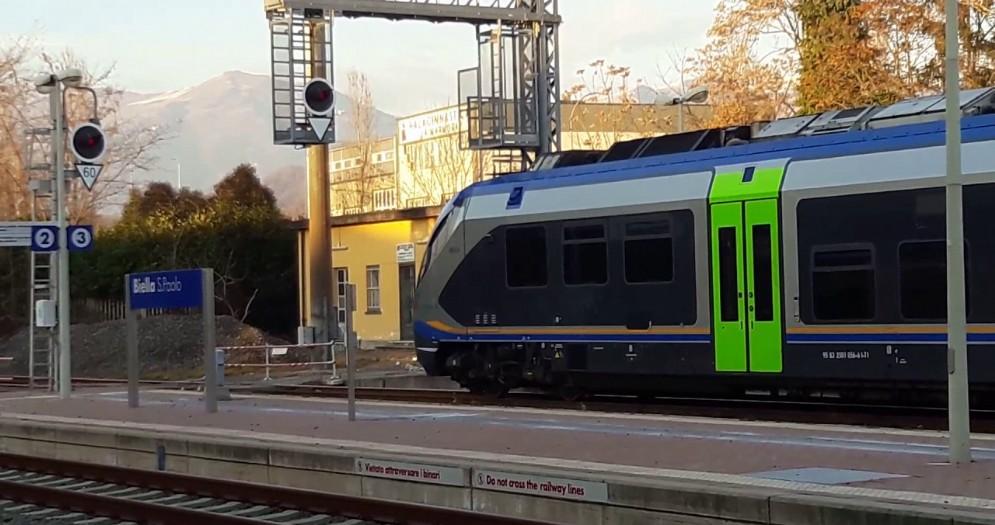 Treno alla stazione di Biella - Immagine di repertorio