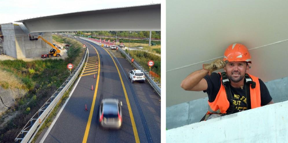 Varato il nuovo ponte sull'autostrada A4