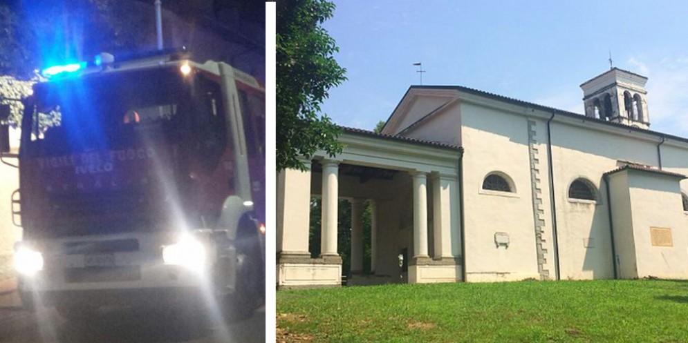Fuoco nel santuario di Madonna delle Pianelle: distrutta un'antica pala d'altare