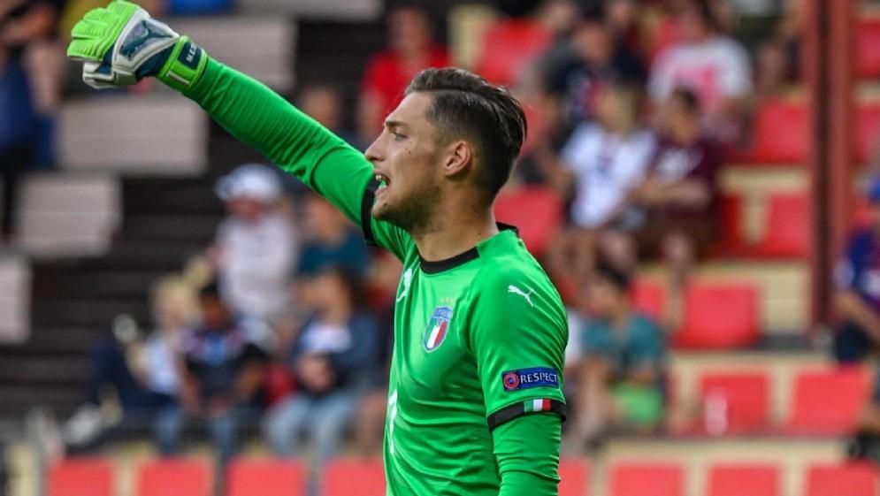 Il giovane portiere del Milan Alessandro Plizzari
