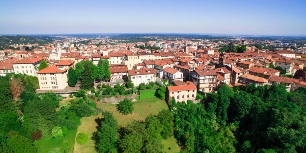 Vista panoramica di Biella vista dal Piazzo